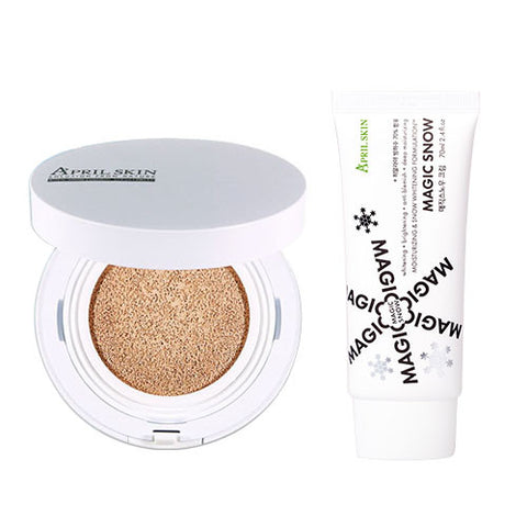 April Skin Magic Snow Cushion White (SPF50+,PA+++) + Snow Cream