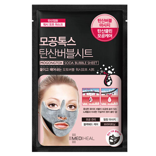 Mediheal Pore Tox Soda Bubble Sheet Mask (1ea)
