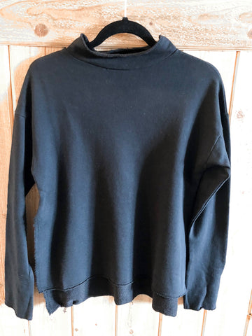 *Solid mock neck sweater black
