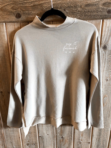 *Pay it Forward mock neck sweater tan