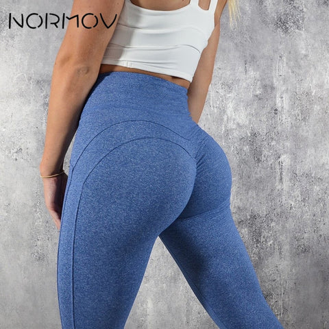 NORMOV Fashion Yoga Pants Sport V Shape Push Up Leggings