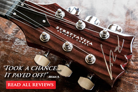 Read Guitar Reviews on Dean Zelinsky's Tagliare, StrettaVita, Zenyatta, and Z-Glide Neck Guitars
