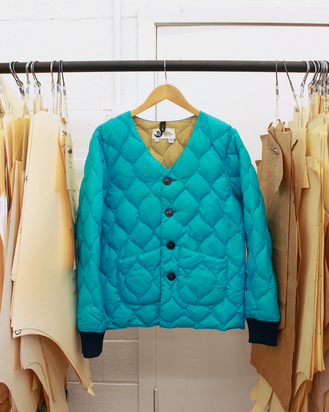 Sample Series | Wave Quilted Housecoat | Emerald Ripstop