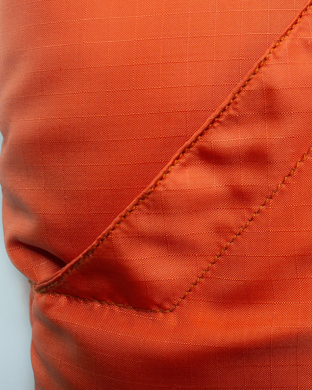Down Italian Vest - Nylon Ripstop - Orange