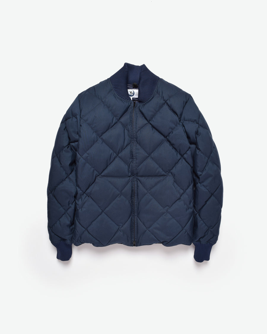 Diagonal Quilt Sweater - Navy