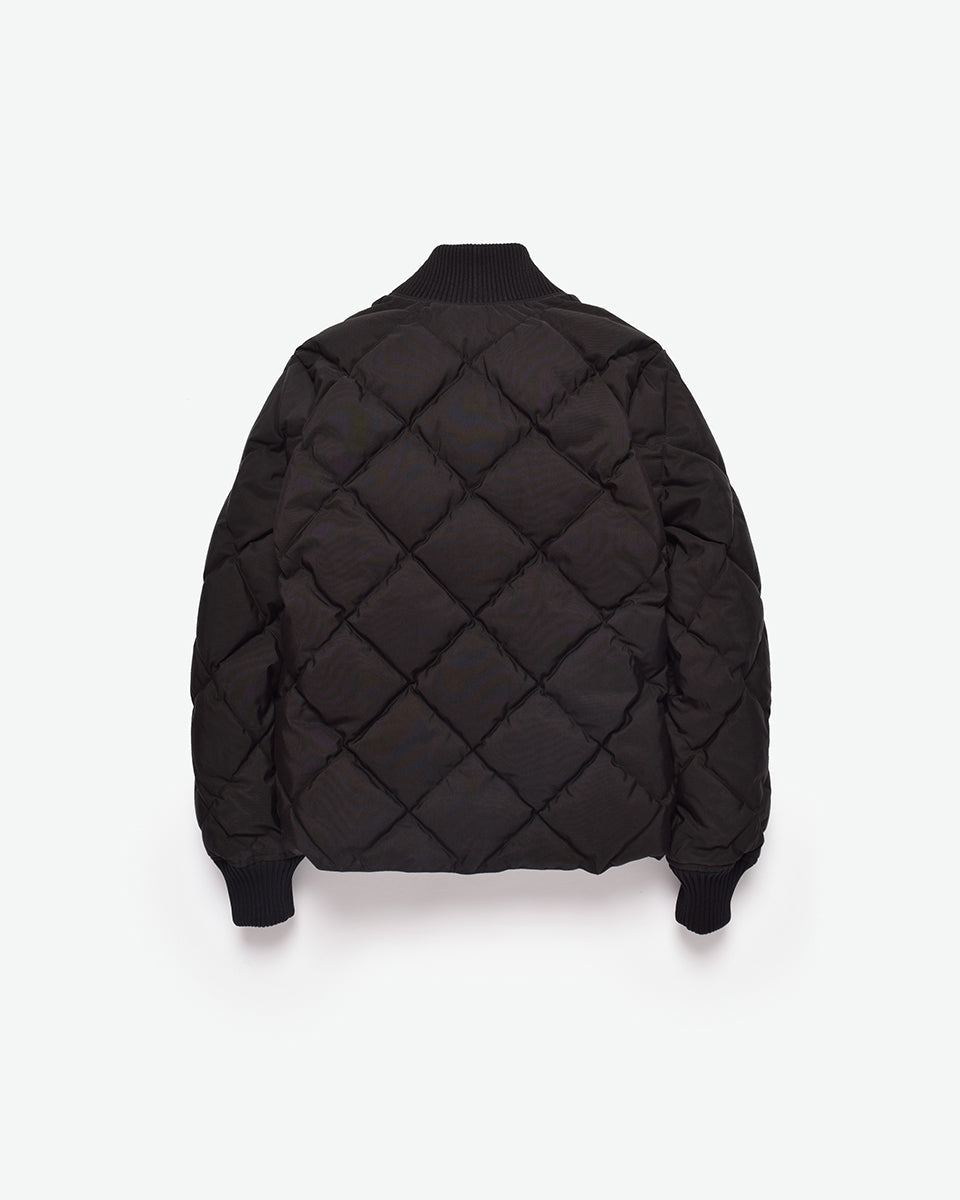 Diagonal Quilt Sweater - Black XXL Special Order
