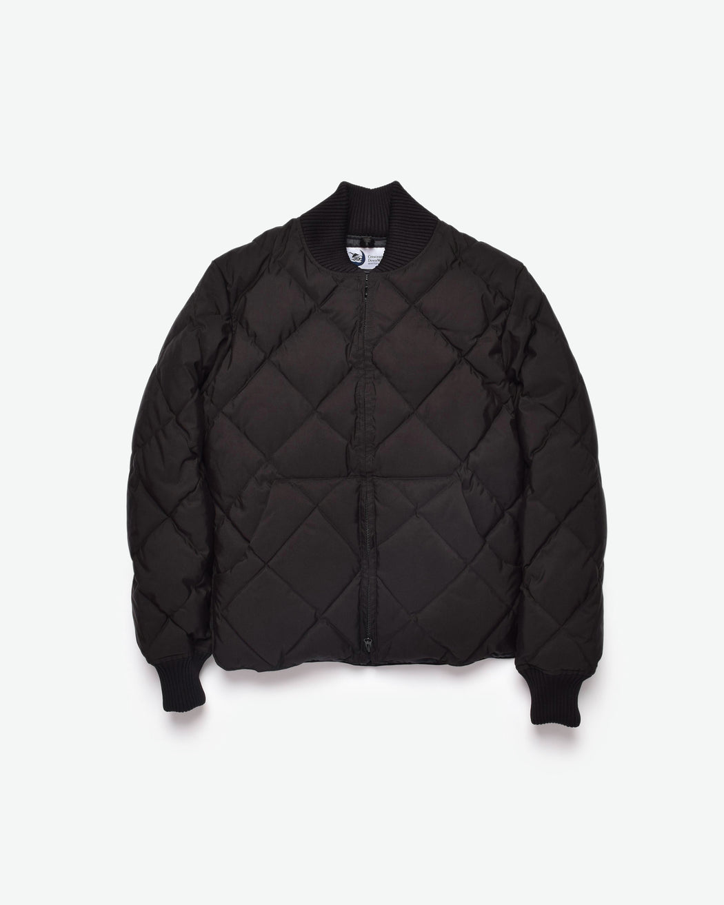 Diagonal Quilt Sweater - Black
