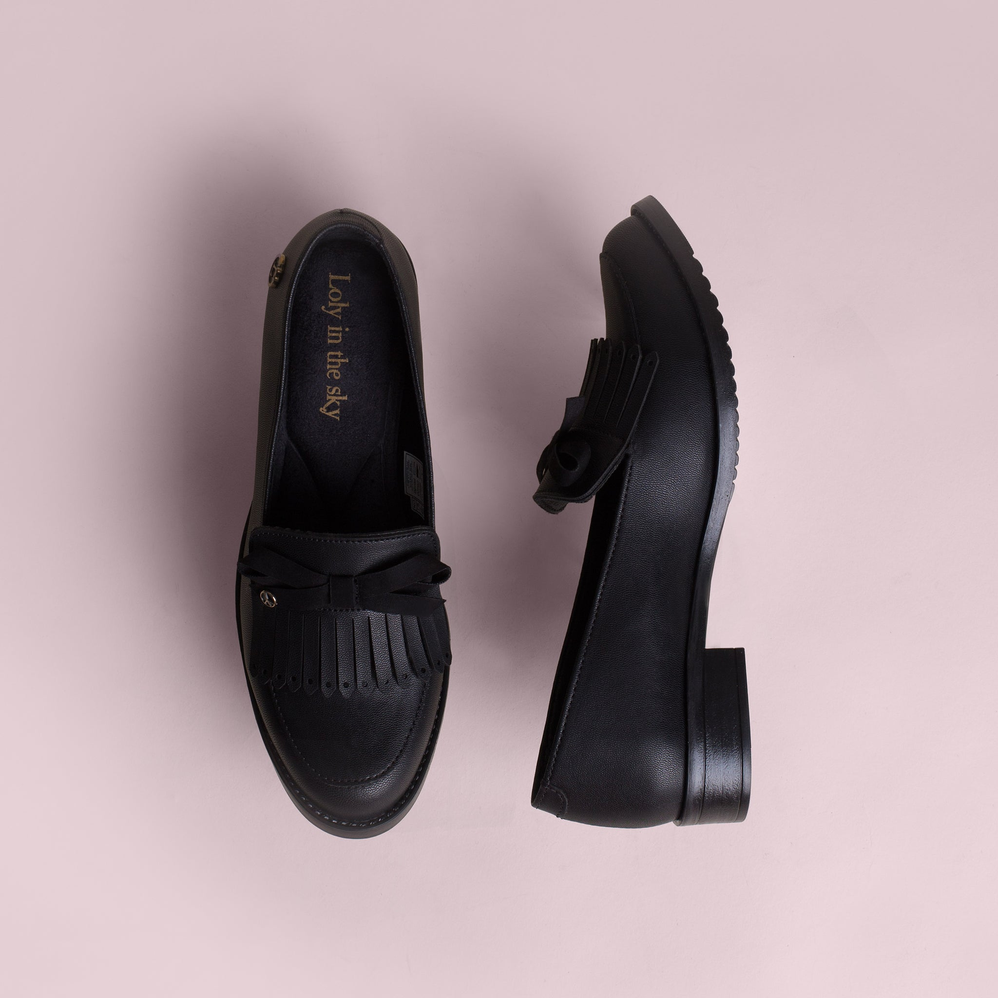 HARMONY | LOAFERS NEGROS PARA MUJER | LOLY IN THE SKY