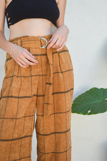 Corduroy Striped Pants