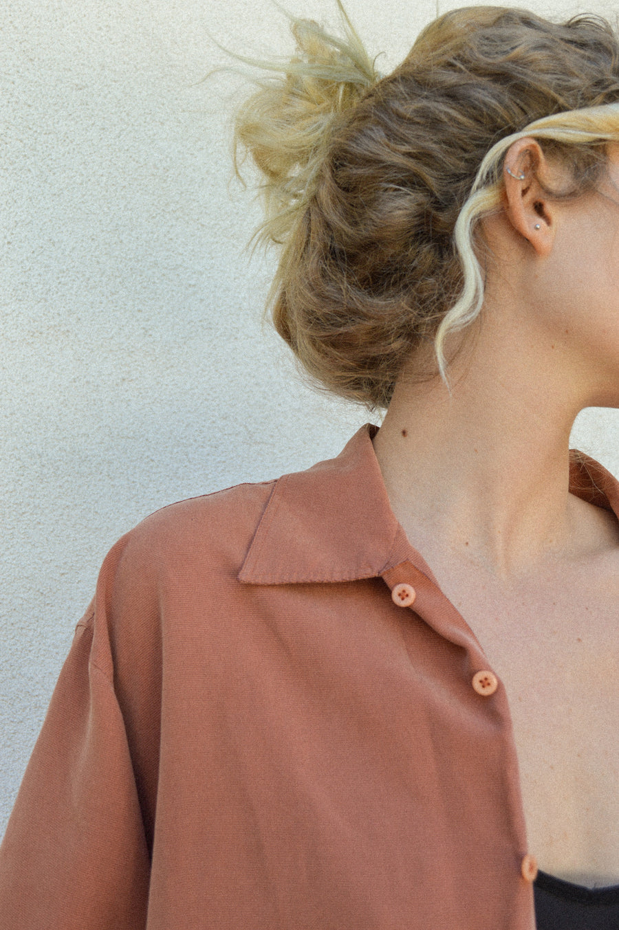 Rust Button Down Shirt