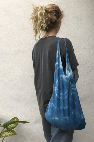 Recycled Indigo Tote Bag