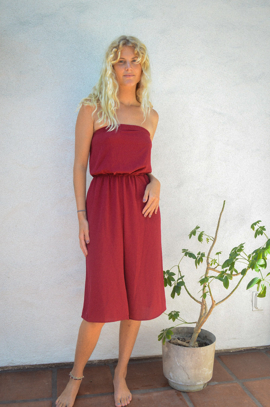 Crimson Midi Jumpsuit
