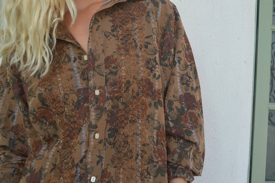 Funky Embroidered Button Down