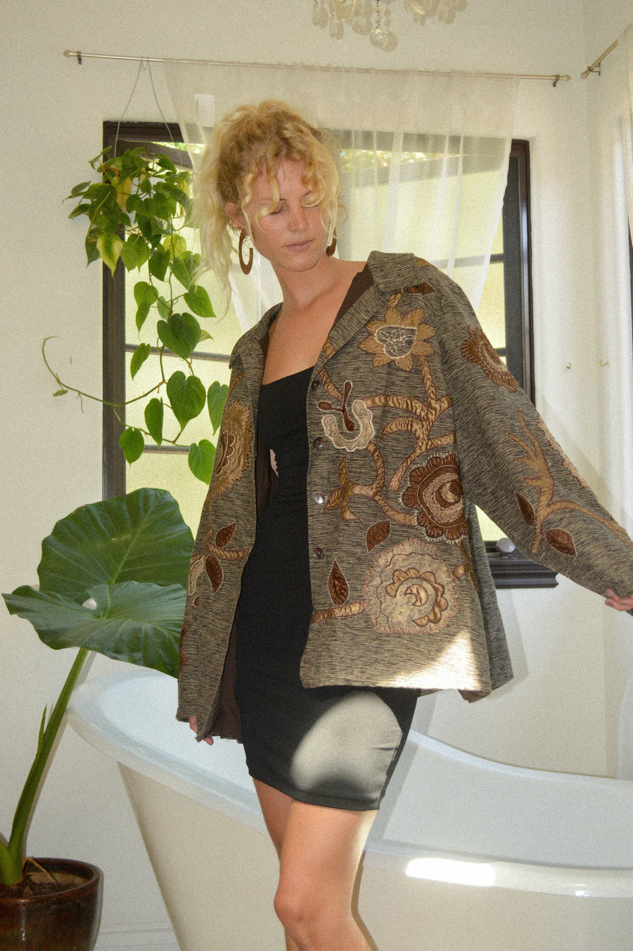 Oversized Patchwork Jacket