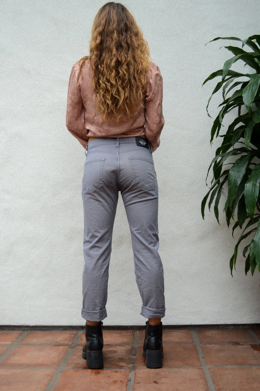 Gray Dockers High-Wasted Jeans || Aesthetic clothing, Dockers, jeans, hipster clothing, winter pants, winter style, high-wasted pants, work
