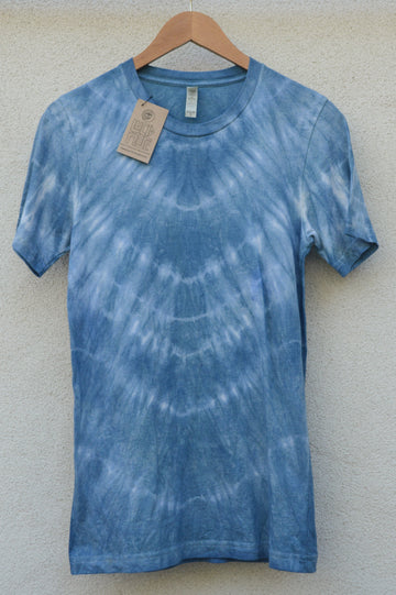 Indigo Naturally Dyed TShirt || gift for her, natural dye, tie dye, tye dye, eco friendly, sustainable, shibori, aesthetic clothing