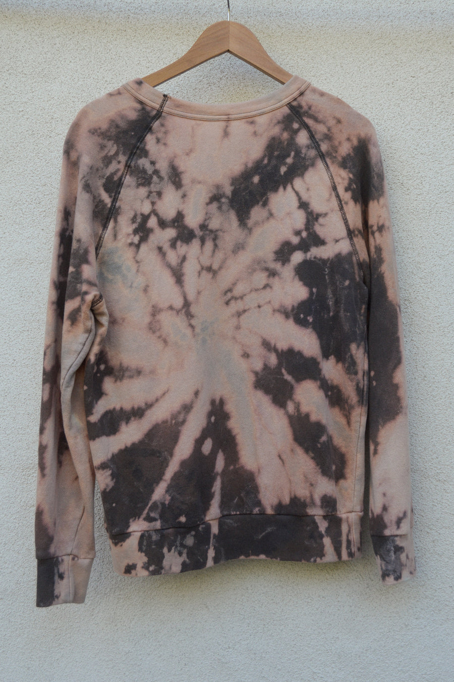 Bleach Dyed Sweatshirt Crewneck || tie dye, tye dye, eco friendly, sustainable, aesthetic clothing, gift for him, gift for her, loungewear