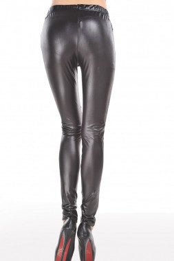 Chic Leopard Faux Leather Leggings - IBL Fashion - 2