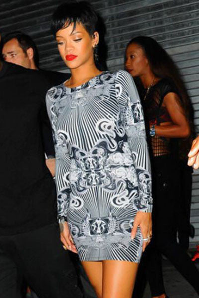 Riri Celebrity Style Novelty Print Vintage Dress 21863 - IBL Fashion - 1