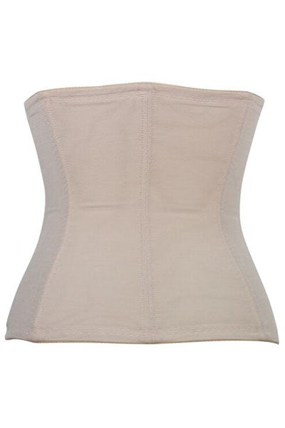 Cream 9 Boned Waist Training Shaper Corset - IBL Fashion - 2