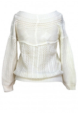 Chic Knitted  Long Sleeve Designer Sweater - IBL Fashion - 3