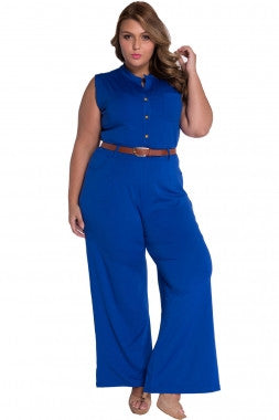 Diva Fashion Wide Leg Jumpsuit 60932 - IBL Fashion - 7