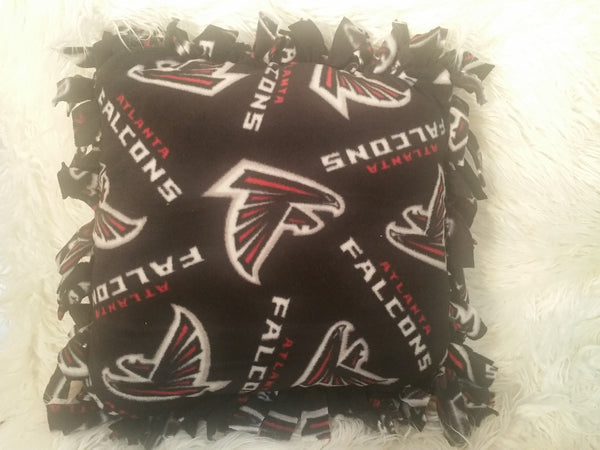Handmade NFL Fleece Pillows with Fringe - IBL Fashion - 1