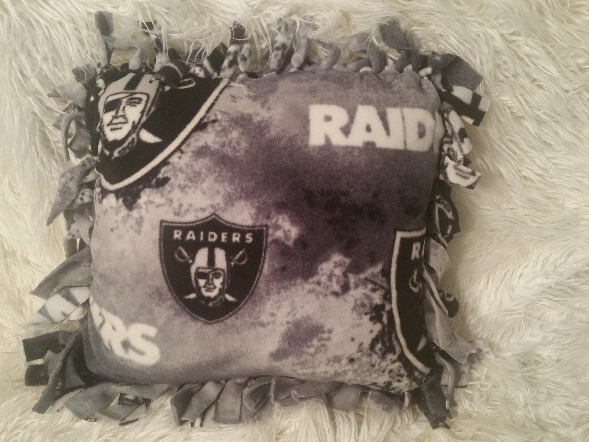 Handmade NFL Fleece Pillows with Fringe - IBL Fashion - 14