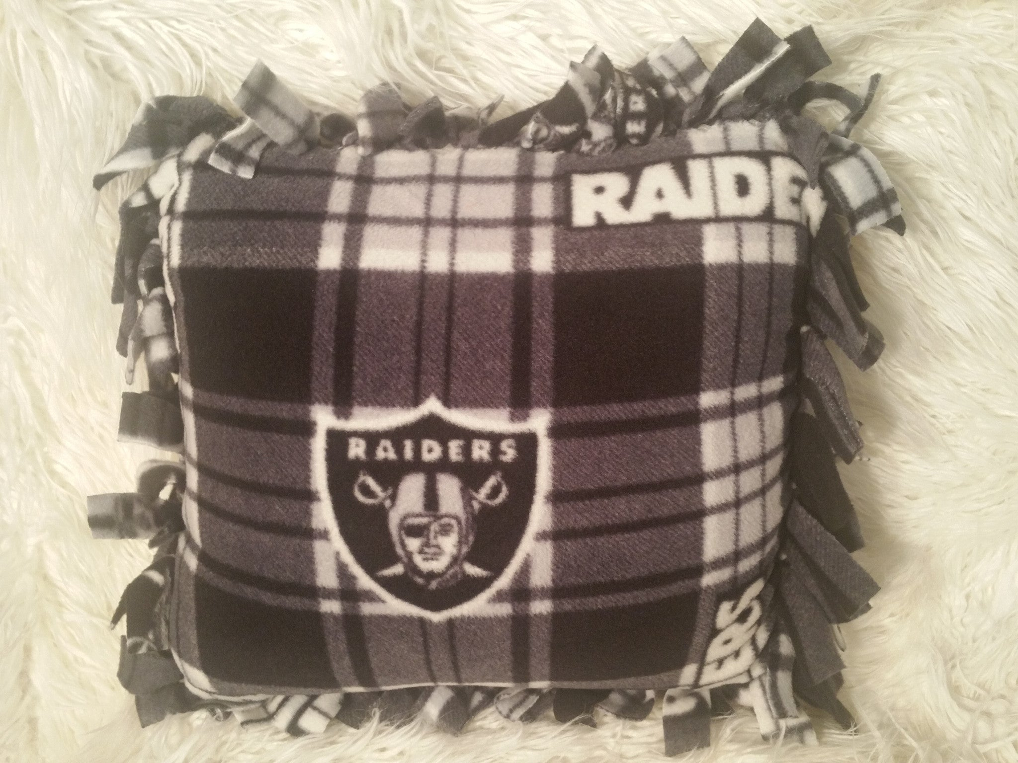 Handmade NFL Fleece Pillows with Fringe - IBL Fashion - 12