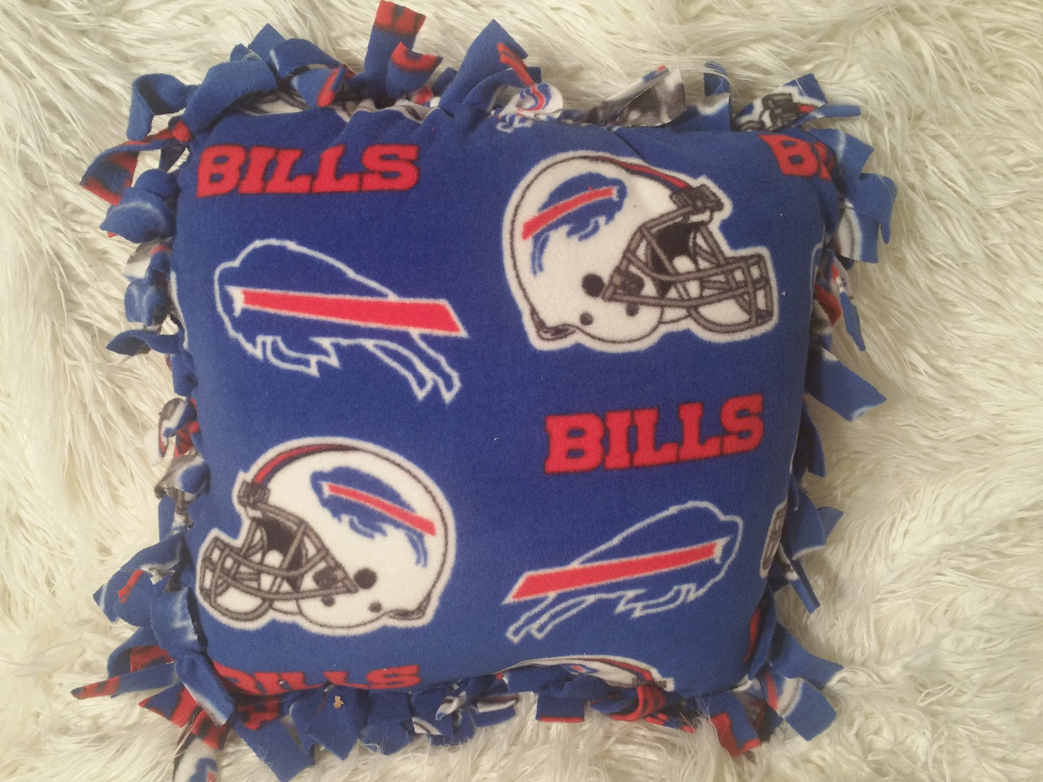 Handmade NFL Fleece Pillows with Fringe - IBL Fashion - 18