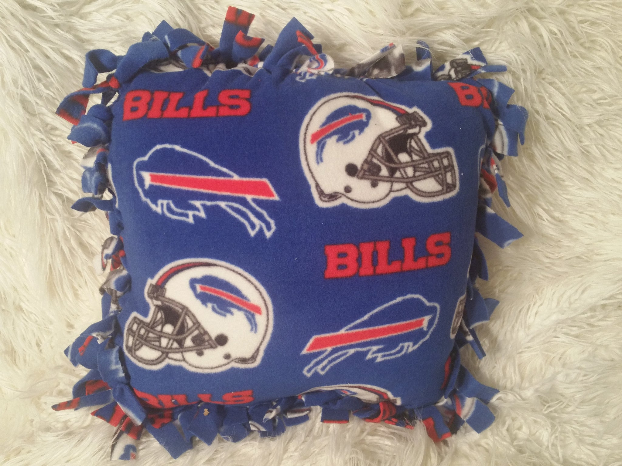Handmade NFL Fleece Pillows with Fringe - IBL Fashion - 17