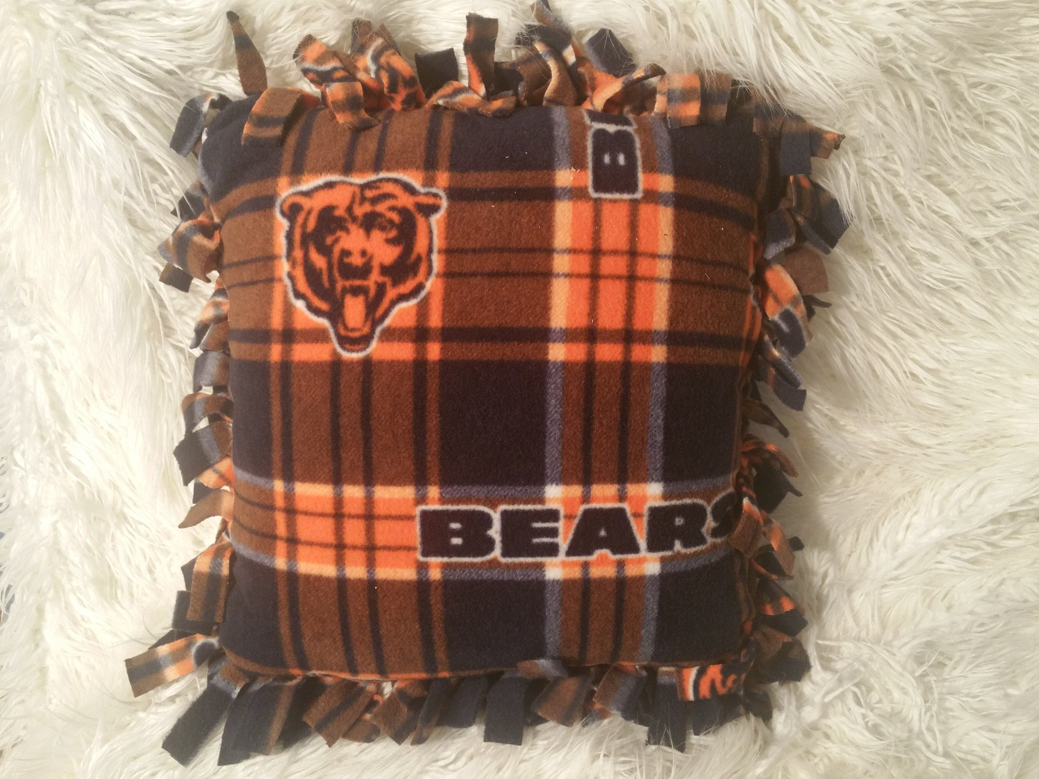 Handmade NFL Fleece Pillows with Fringe - IBL Fashion - 7