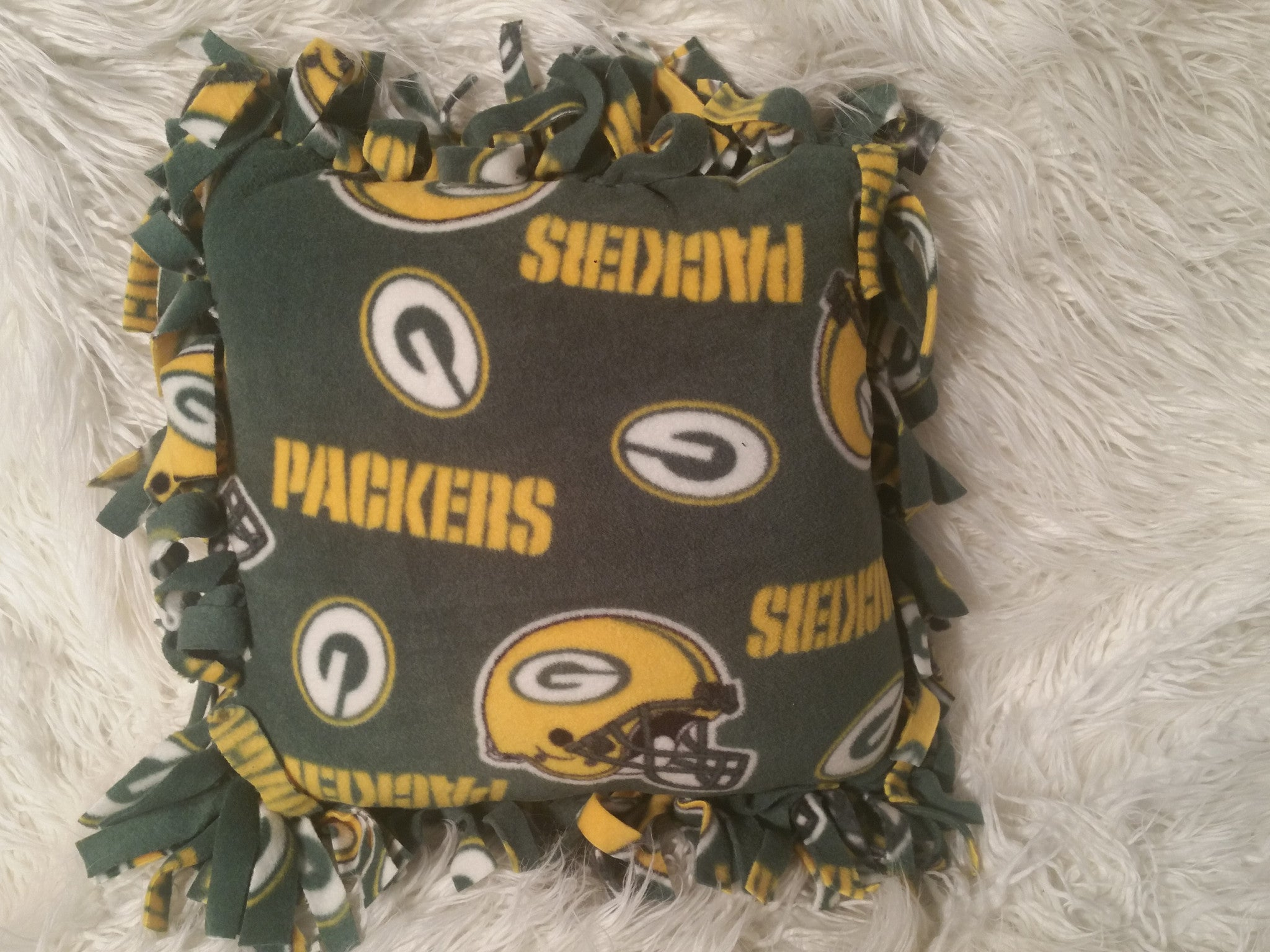 Handmade NFL Fleece Pillows with Fringe - IBL Fashion - 10