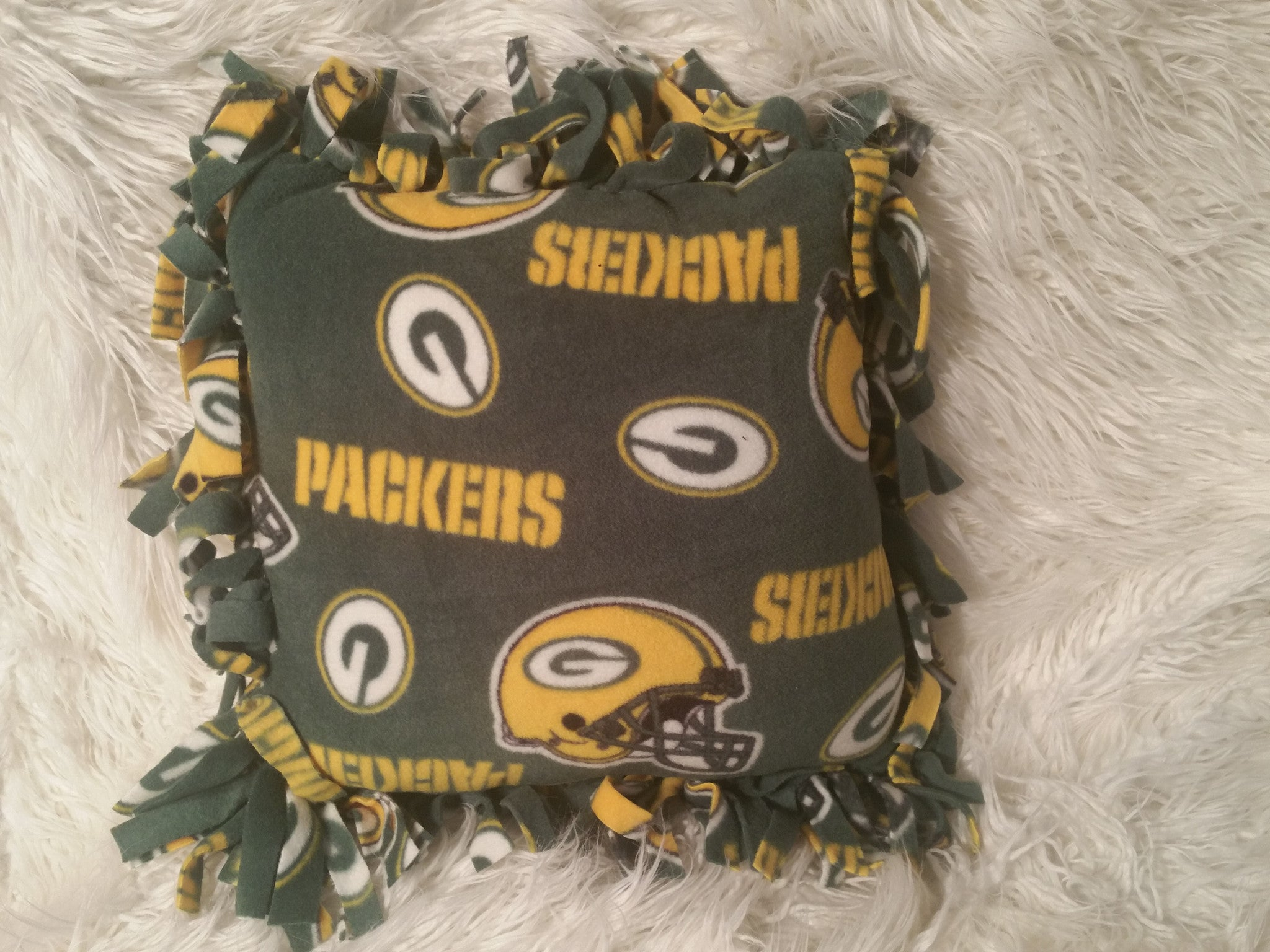 Handmade NFL Fleece Pillows with Fringe - IBL Fashion - 6