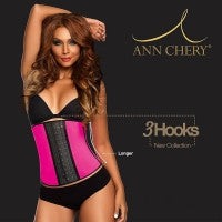 Ann Chery Pink NEW 3 Hook Long Torso Deportiva Sport Latex Waist Cincher Body Shaper - IBL Fashion - 1