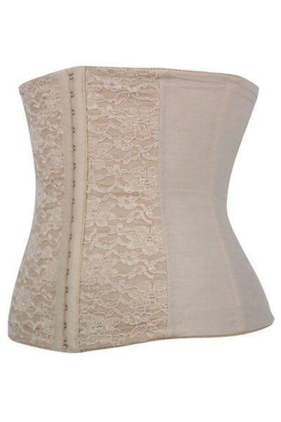 Cream 9 Boned Waist Training Shaper Corset - IBL Fashion - 1