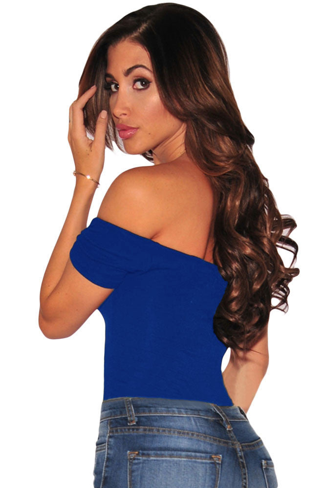 Short Sleeve Off Shoulder Bodysuit