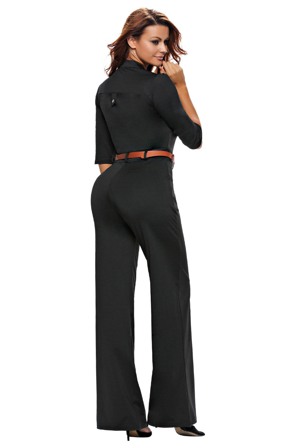 Half Sleeve Diva Fashion Wide Leg Jumpsuit 64205 - IBL Fashion - 7