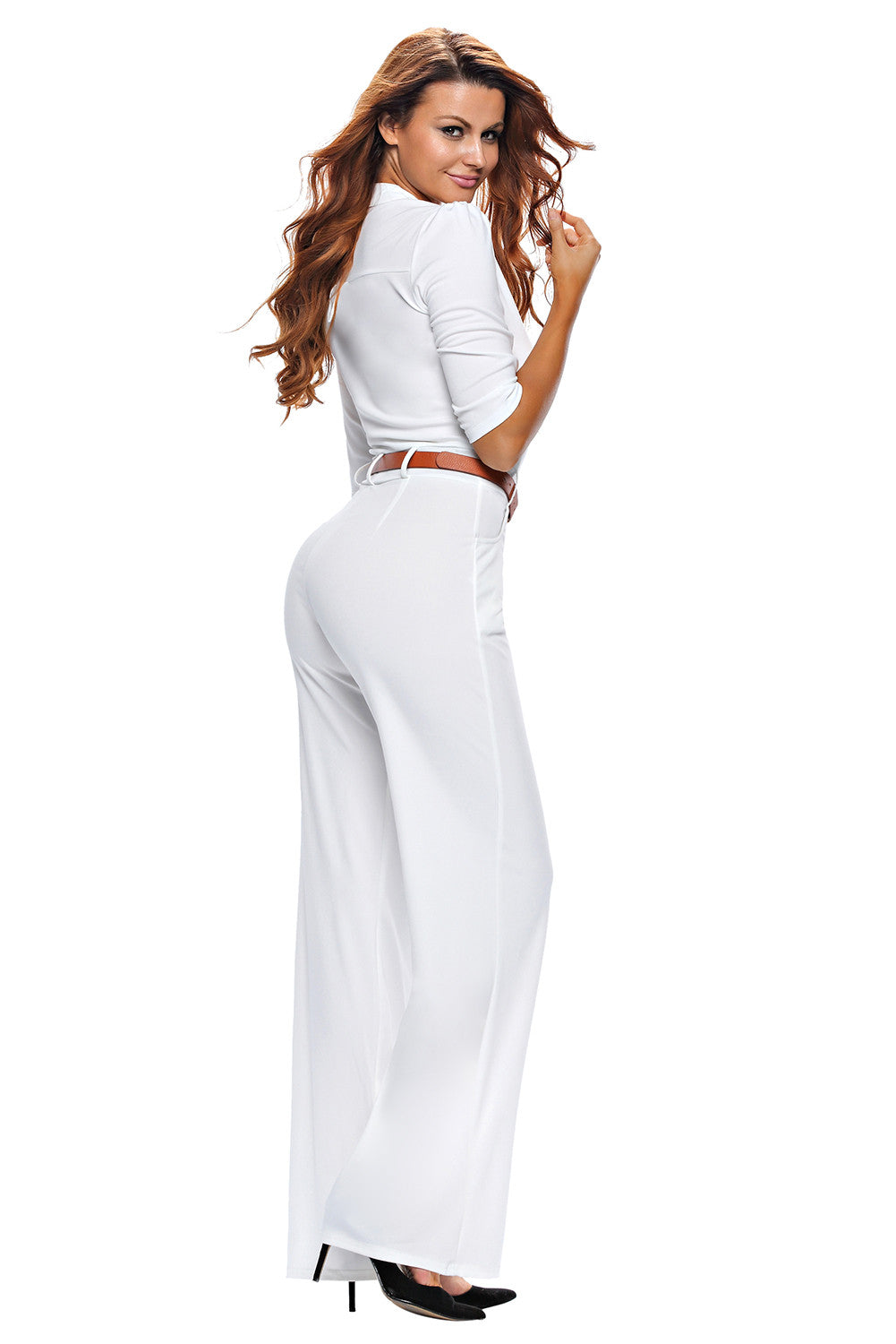 Half Sleeve Diva Fashion Wide Leg Jumpsuit 64205 - IBL Fashion - 10