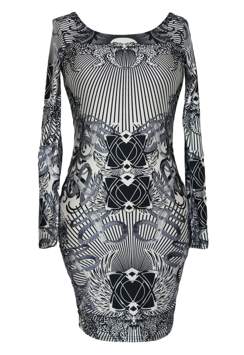 Riri Celebrity Style Novelty Print Vintage Dress 21863 - IBL Fashion - 4