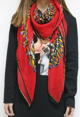 National Retro Hot Chili Totem Scarf - IBL Fashion - 3