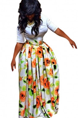 African Print Maxi Skirt - IBL Fashion - 1