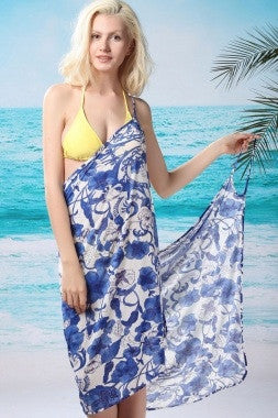 Porcelain and White Beach Cover Up - IBL Fashion - 1