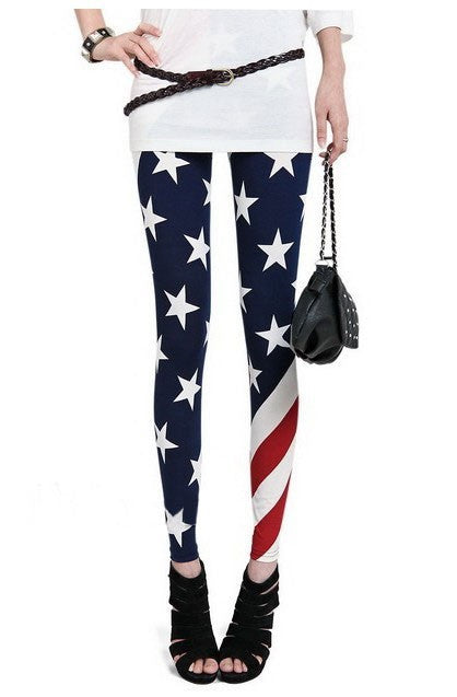 USA Flag Leggings - IBL Fashion - 1