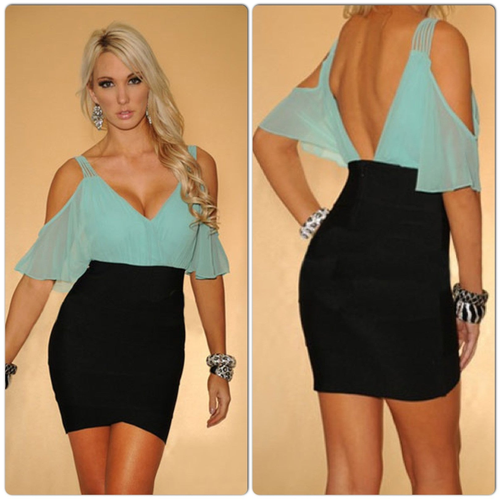 InStock Sexy Chic Bandage Dress - IBL Fashion - 3