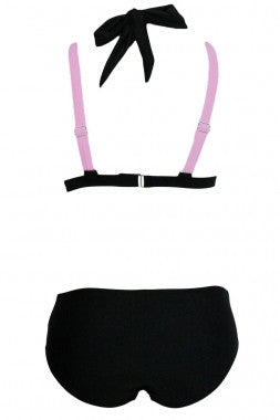 Color Block 2 Piece Halter Swimsuit - IBL Fashion - 15