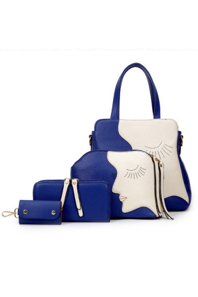 Elegant Artistic 4pc Handbag Set - IBL Fashion - 2
