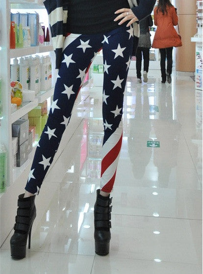 USA Flag Leggings - IBL Fashion - 3