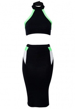 Long Sleeve Side Spliced Bodycon Dress - IBL Fashion - 4