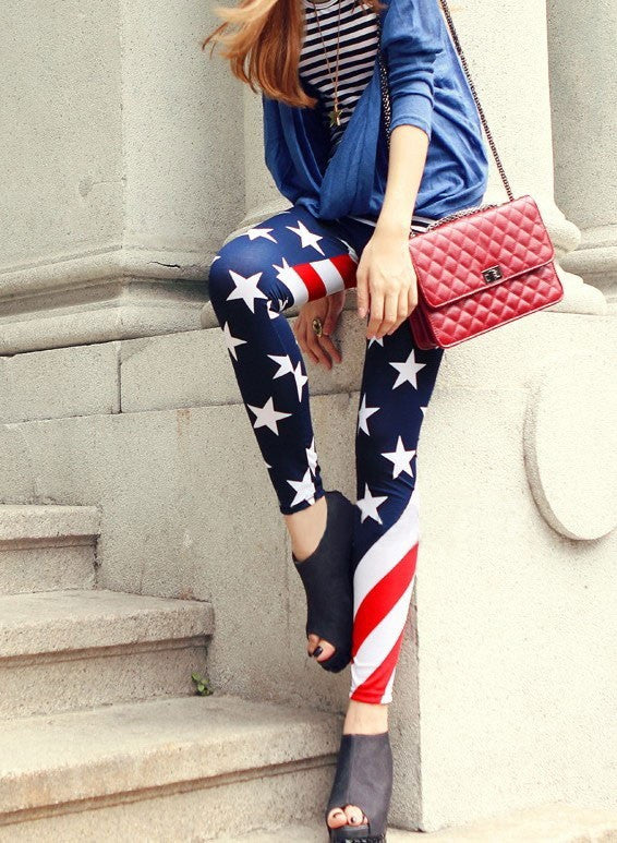 USA Flag Leggings - IBL Fashion - 2